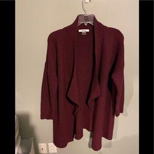 Tanjay XL waterfall open cardigan maroon